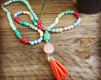 Colorful buddha necklace