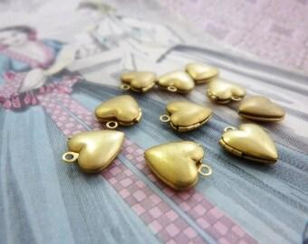 Locket Raw Brass Small Heart (2)