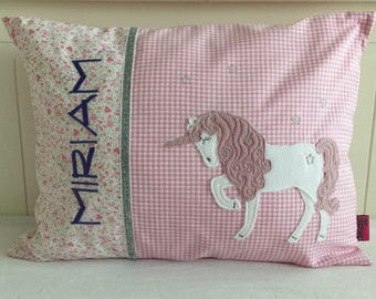 Unicorn Pillow with Name