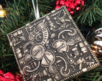 1 Steampunk Christmas Ornament, Steampunk Gears & Gadgets, Christmas Tree Ornament, Steampunk Art, Holiday Steampunk Ornament, Steampunk