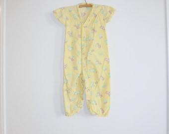 Vintage Yellow Toddler Pajamas