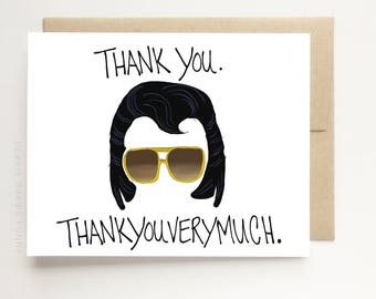 Funny Card - Thank You Card - Thank you Thank you very much - Funny Thank You Card -  Stationery Thank You - Greeting Card - Thank You Note