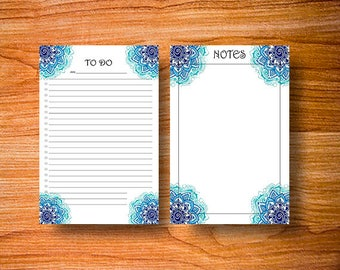 To Do List. Notes. - Mandala. Includes 4 sizes.