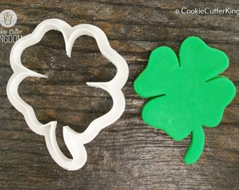 Four Leaf Clover Cookie Cutter, Mini and Standard Sizes, 3D Printed