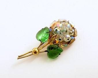 Vintage Brooch Flower Pin Made in Austria St Patrick's Day