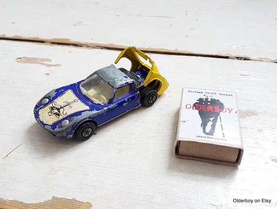 Vtg Lesney LAMBORGHINI MIURA K 24 Yellow Blue Car Matchbox Series Lesney  Lamborghini Model Diecast Vintage Lesney Vtg D4/952