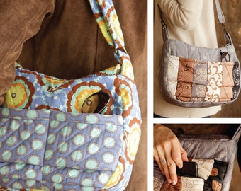 Quilted Pocket Purse Sewing ePattern PDF