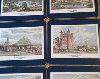 Set of 6 placemats British landmarks