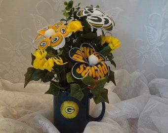 Green Bay Packers Floral Arrangement-S1086