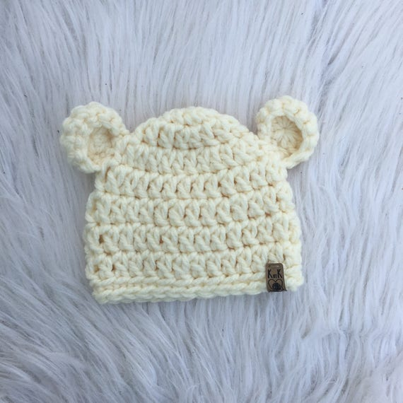 Crochet Bear Hat Baby Hat Newborn Hat PICK YOUR SIZE
