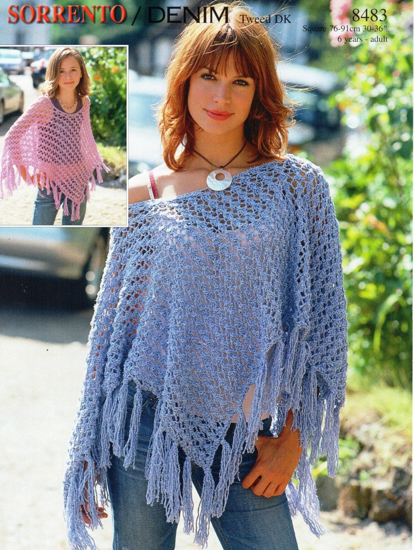 Womens poncho knitting pattern pdf download girls poncho zoom bankloansurffo Choice Image