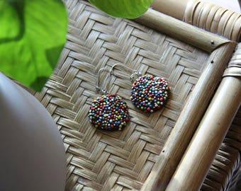 Freckle earrings