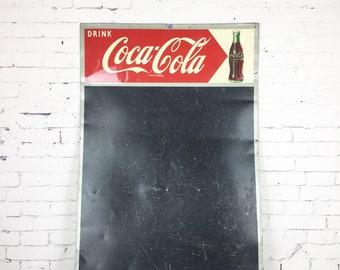 Vintage Coca Cola Menu Board 1955 Metal Chalkboard Sign Vintage Coca Cola 1955 Chalkboard Menu Board Sign Original Coca Cola Menu Board Sign