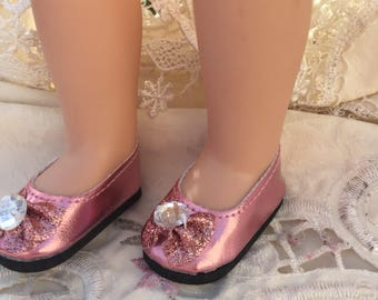 shoes for wellies accessories for dolls, wellies American girl doll shoes for Wellie wisher pretty pink with gemstone