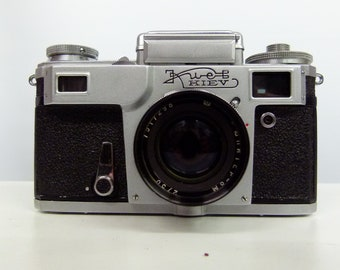 Vintage Kiev - Russian USSR 35mm Camera - With Wraparound Case - Lomography - Russian Made - USSR