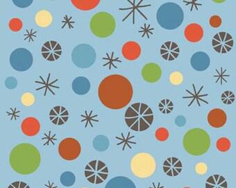 Riley Blake Fabric Scoot Blue Dots  1 yard