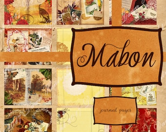 Junk Journal Printable pages: MABON