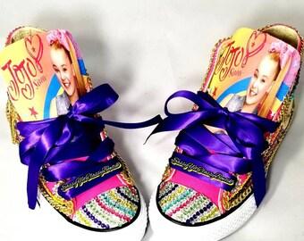 JoJo Siwa, Jojo Siwa Birthday, JoJo Siwa shoes, JoJo Siwa party, Jo Jo Siwa, custom shoes, bling shoes, 1st birthday, jojo birthday shirt