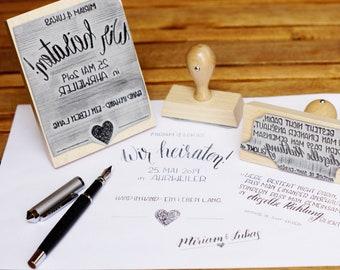 Stempel mit Eurer Handschrift ! - verschiedene Größen (max. 10x13cm)