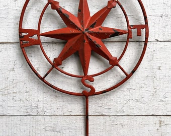 Beautiful More Colors. Compass Hook, Nautical Decor,Compass Wall ...