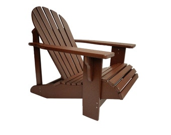 Adirondack Chair in Classic Style. Made from Poly Lumber - All Weather and Maintenance Free!