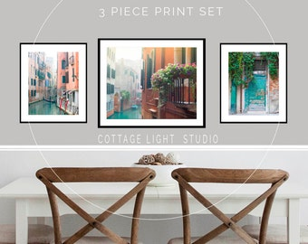 Venice Photos, Venice Print Set, Venice Canal Photo, 16x20, 11x14 Inch Prints, Italy Images, Venetian Waterways, Corlorful Large Wall Art