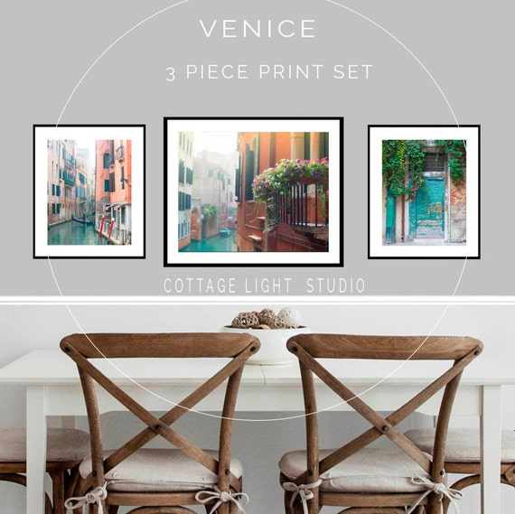 Venice Photos, Venice Print Set, Venice Canal Photo, 16x20, 11x14 Inch Prints, Italy Images, Venetian Waterways, Corlorful Large Wall Art