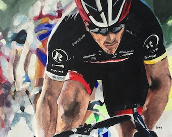 Dropping the Hammer - Cycling Sports Print