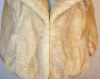 FREE  SHIPPING   1950 Mink Fur Wrap