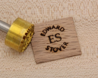 "1"" Round Custom Text w/Initials Branding Iron"