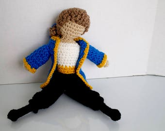Prince Adam: Beauty and the Beast prince doll | prince doll | handmade toy | faceless doll | crochet for play