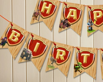 Clash of Clans INSTANT DOWLOAD Banner // Digital File Only