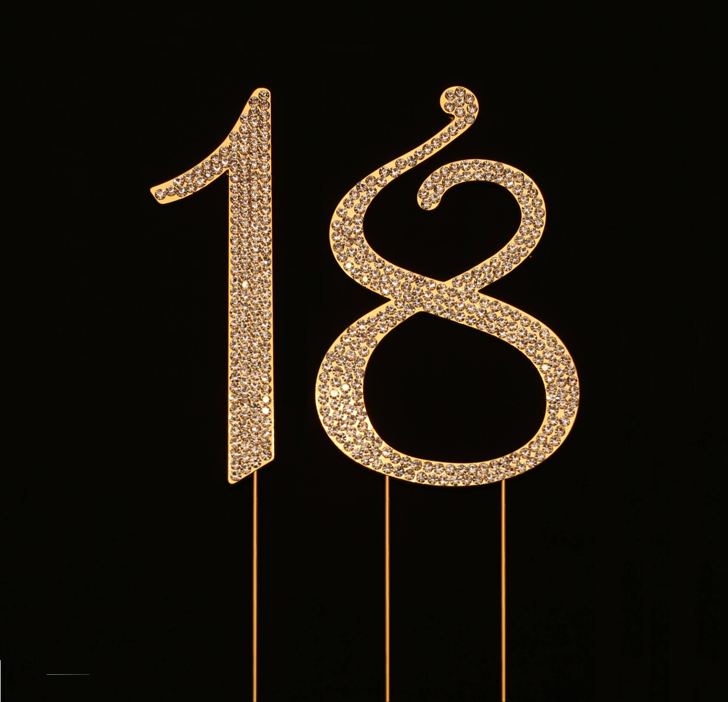 Number 18 for 18th Birthday or Anniversary Cake Topper Party