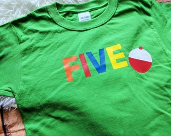 Fifth birthday shirt, fifth birthday fishing shirt, o fish ally five shirt, fishing birthday shirt, bobber birthday shirt, fishing vacation