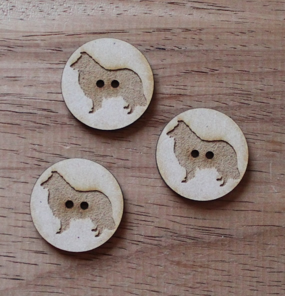 8 pieces.Sheep Dog Farmyard. Buttons,3cm Buttons-Acrylic and Wood Laser Cut-Jewellery Supplies-Little Laser Lab Wood and Acrylic Products