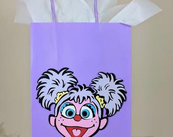 Abby Cadabby Treat Bags, Abby Treat Bags, Sesame Street Treat Bags, Sesame Street Decor