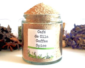 Café de Olla/Mexican Coffee/Coffee Spice/Spice Rack/Food Gift/Coffee Gift/Coffee Lover/Foodie Gift/Seasonings Gifts/Chef Gift