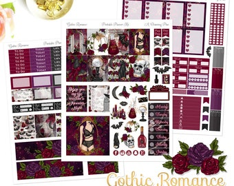 Gothic Romance - Printable Planner Stickers - Instant Download