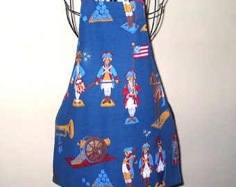 Child's Apron  Soldiers Patriotic  Reversible Fits Ages 3 to 8