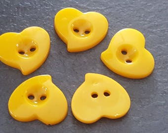 20 hearts 14 mm, fancy, baby, child button buttons buttons buttons