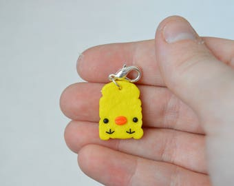 Kawaii Kiiroitori Toast Charm - Kawaii Polymer Clay Charms