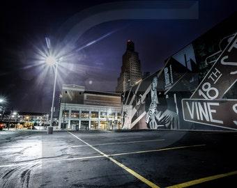 Kansas City's 18th and Vine Jazz Mural Photograph