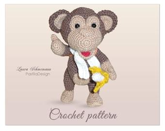 Crochet Monkey, Crochet Pattern, Amigurumi Monkey Pattern, Crochet Toy Pattern, Amigurumi Monkey, Crochet monkey pattern, Crochet animal