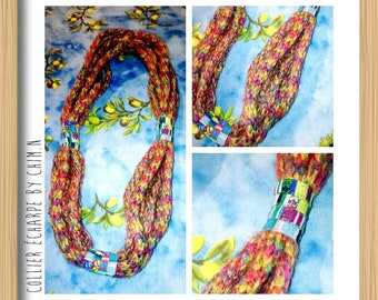 Necklace scarf - Scarf - knitting