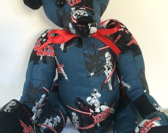 Handmade fabric bear