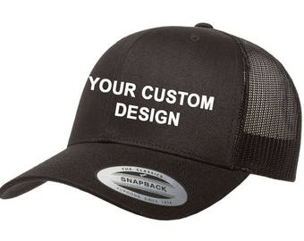 Customized Trucker Cap / Trucker Snapback / Gym Cap / Embroidered Mesh Hat / Custom Embroidery / Your Custom Apparel / DTG Printing /3D Foam