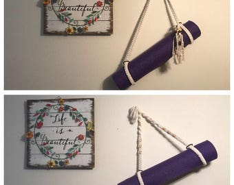Yoga mat strap - adjustable