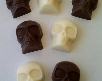 Solid Chocolate Skulls 1 Dozen