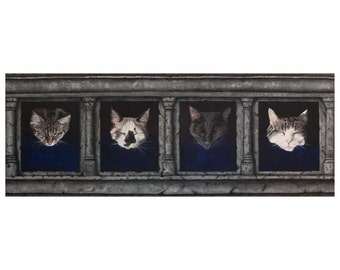 Hall of Cats - Fine Art Print by Chrissie Brown Art