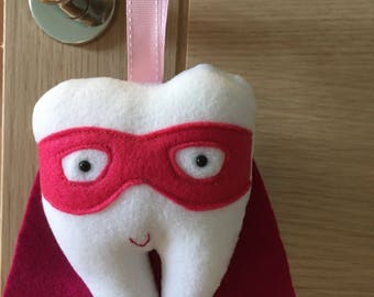 Super hero tooth pillow